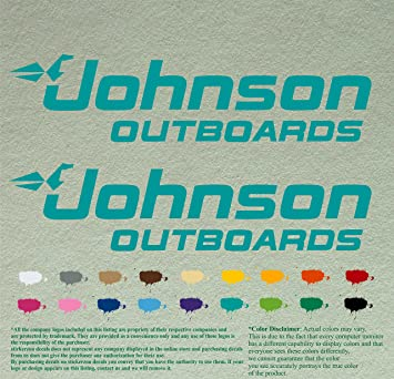 "Johnson Outboards 24/"" Vinyl Sticker Decal car truck window Pick color boat fish"