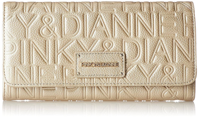 [ピンキーアンドダイアン] 長財布 【パレード】ロゴ型押し エンボス カブセボタン開閉 PDLW7FT2 B073W76693  ゴールド