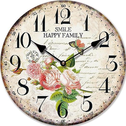 5 opinioni per OROLOGIO DA PARETE DESIGN HAPPY FAMILY SHABBY CHIC- Tinas Collection