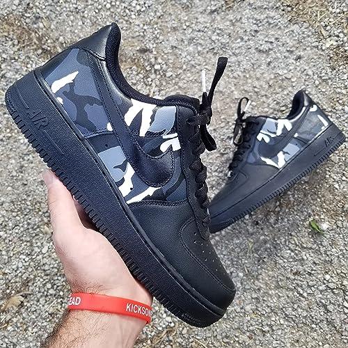 sports shoes ccef4 8b54f Amazon.com  Nike Air Force 1 AF1 Custom Camo Monochrom Edition  Handmade