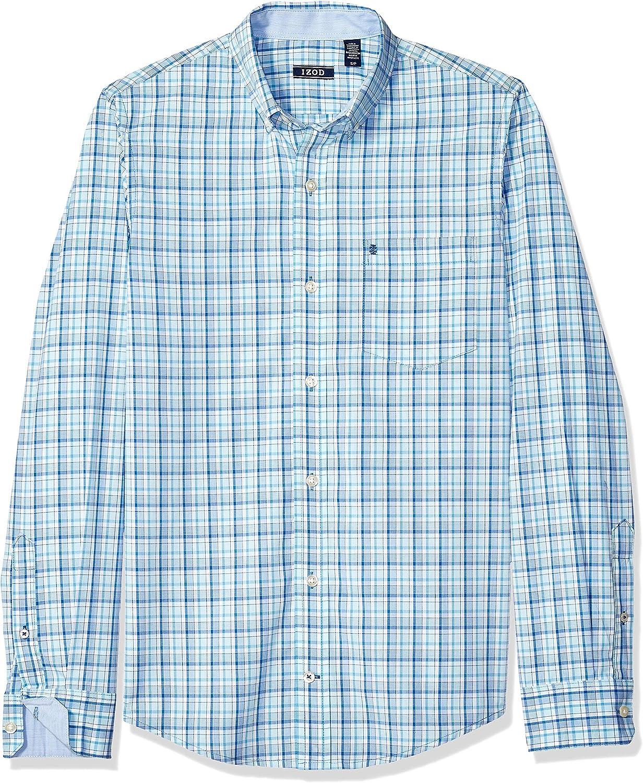 Essentials Herren Buttondown-Hemd Slim-fit Short-sleeve Gingham Shirt