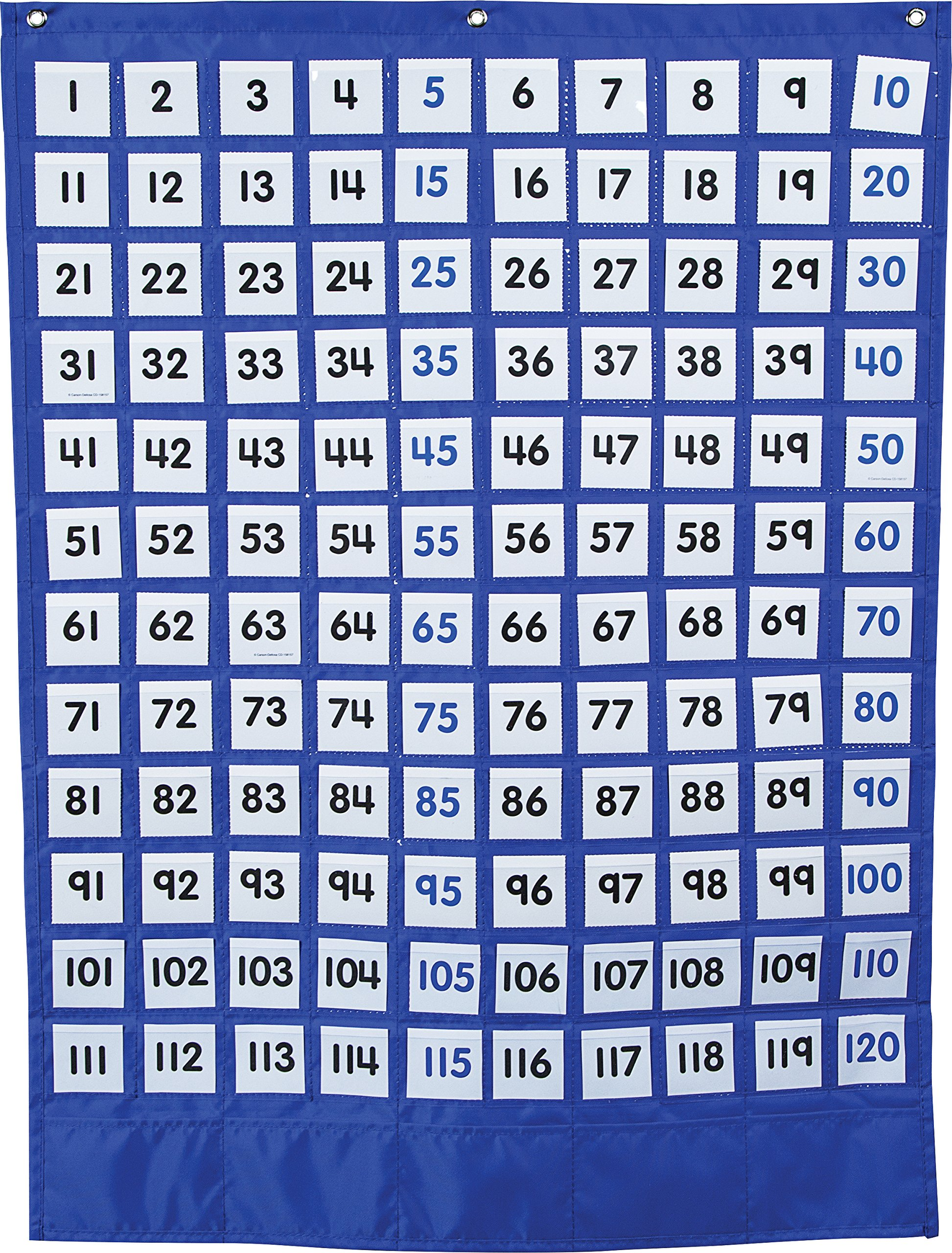 Carson Dellosa Numbers 1-120 Board Pocket Chart (158180)