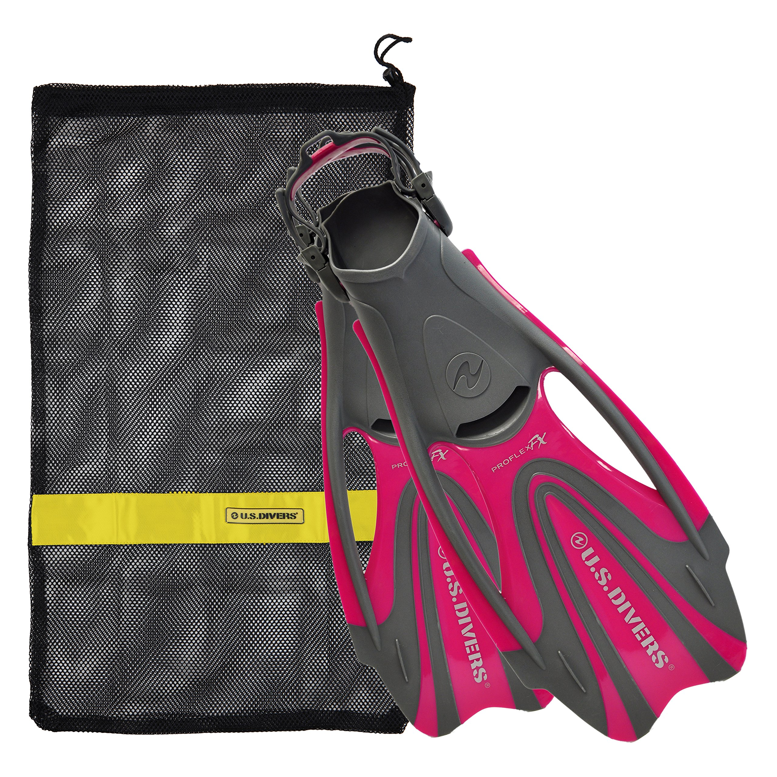 U.S. Divers Proflex FX Fin with Mesh Carrying Bag, Raspberry, Medium by U.S. Divers
