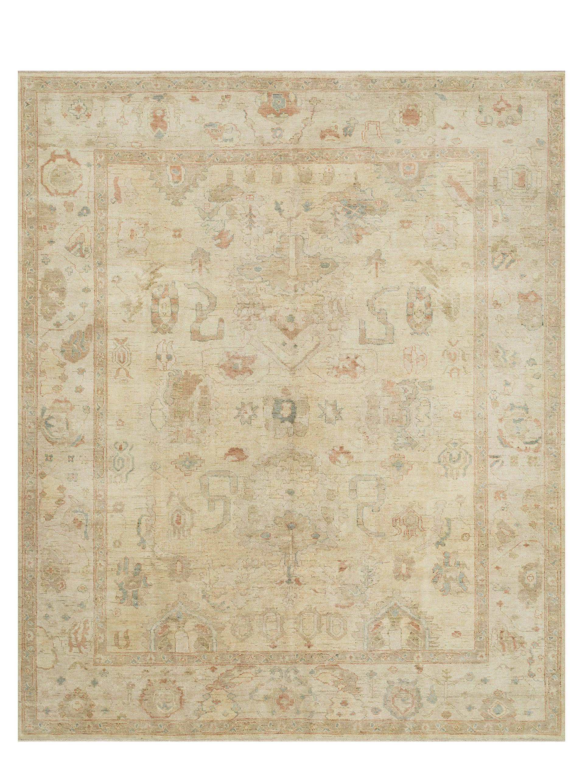 Loloi Rugs Vincent Collection Traditional Area Rug, 8-Feet 6-Inch by 11-Feet 6-Inch, Stone/Stone