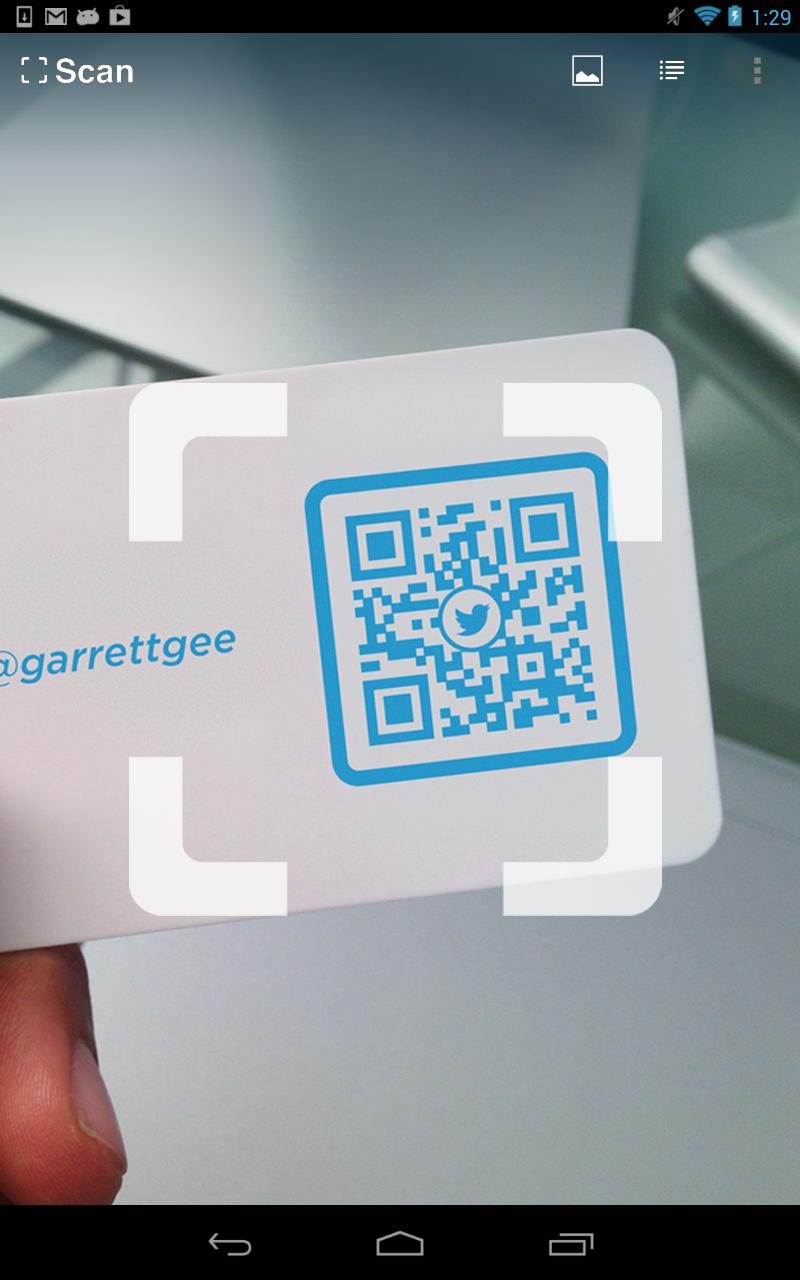 How to scan qr codes with android.