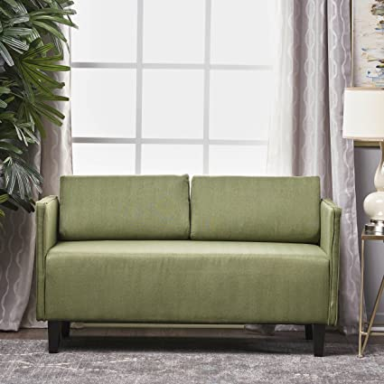 Sophie Living Room Office Fabric Loveseat (Moss)