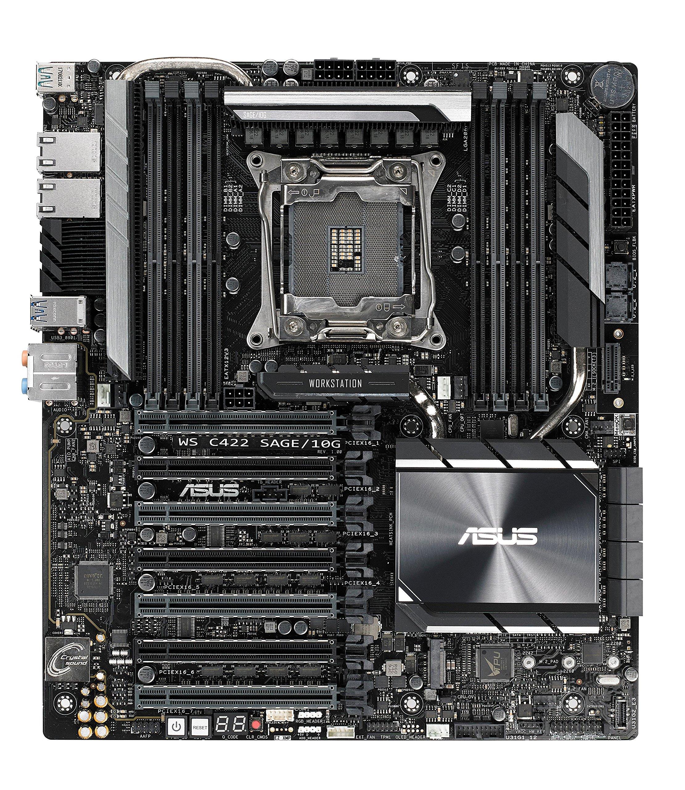 ASUS WS C422 SAGE/10G LGA2066 ECC DDR4 M.2 U.2 C422 ATX Moth