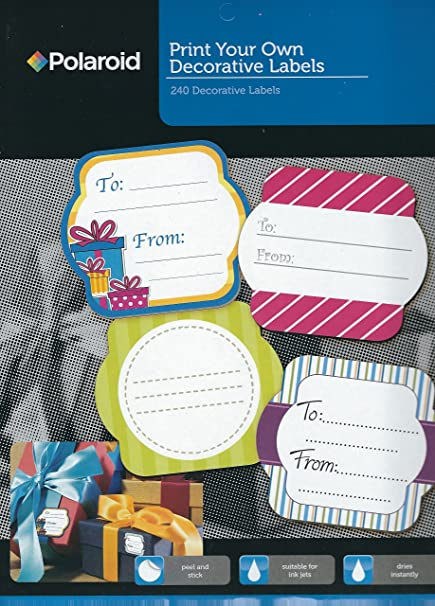 amazon com polaroid print your own decorative labels for gifts 1
