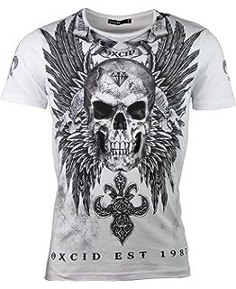 8bc6100051952b OXCID T-Shirt - Diamond Skull - Totenkopf Motiv est 1987 - in Verschiedenen  Farben