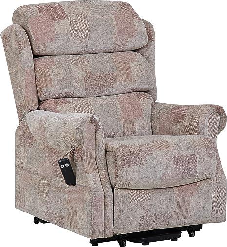 GFA Lincoln Standard Dual Motor Riser Recliner Chair In Soft Autumn Mosaic Fabric