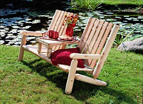 Cedarlooks 11007TT Log Garden Tea Set Bench