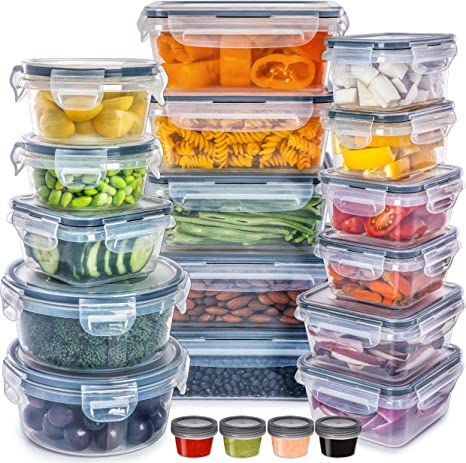 Amazon Com Fullstar Food Storage Containers With Lids Plastic Food Containers With Lids Plastic Containers With Lids Storage 20 Pack Plastic Storage Containers With Lids Food Container Set Bpa Free Kitchen