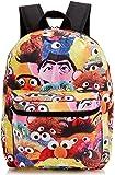 Meroncourt Sesame Street Characters Design Children's Backpack 14 Liters, Black/ Multicolour BIO-BP0J9FSES