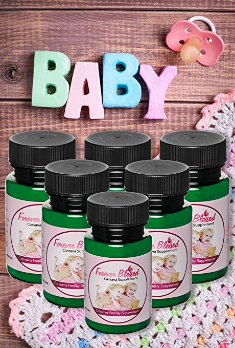 6 Month Supply Organic Cassava Root - Fertility Supplement for Twins - Certified Strongest Product on The Market (Vitamin for a Natural Pregnancy)