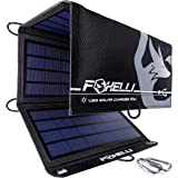Foxelli Dual USB Solar Charger 10W - Portable Solar Panel Phone Charger for iPhone & Android Smartphones, iPads, Android…