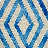 "Rivet Modern Geometric Rug, 2' 6"" x 8', Blue, Ivory"