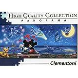 "Clementoni 39449"" Mickey und Minnie Puzzle Disney Panorama, 1000 Teile"