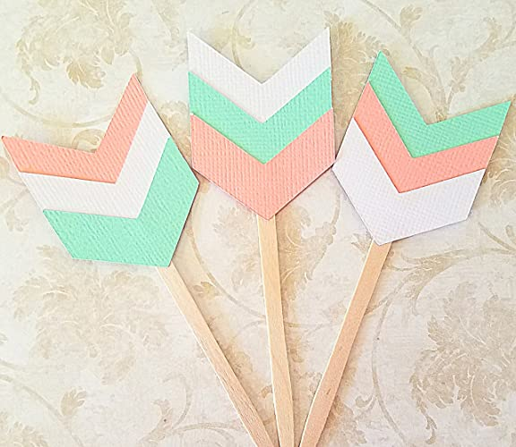 23405a571408 Amazon.com  Tribal Baby Shower Cupcake Toppers