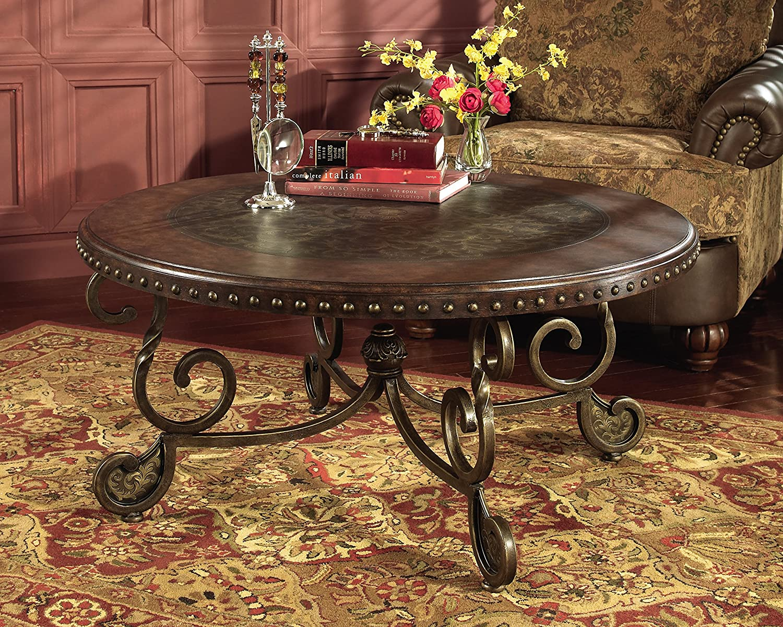 Amazoncom Ashley Furniture Signature Design Rafferty Coffee - Ashley rafferty coffee table