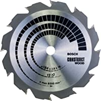 Bosch Professional Cirkelsågblad Construct Wood (trä, 184 x 16 x 2,6 mm, 12 tänder, tillbehör cirkelsåg)