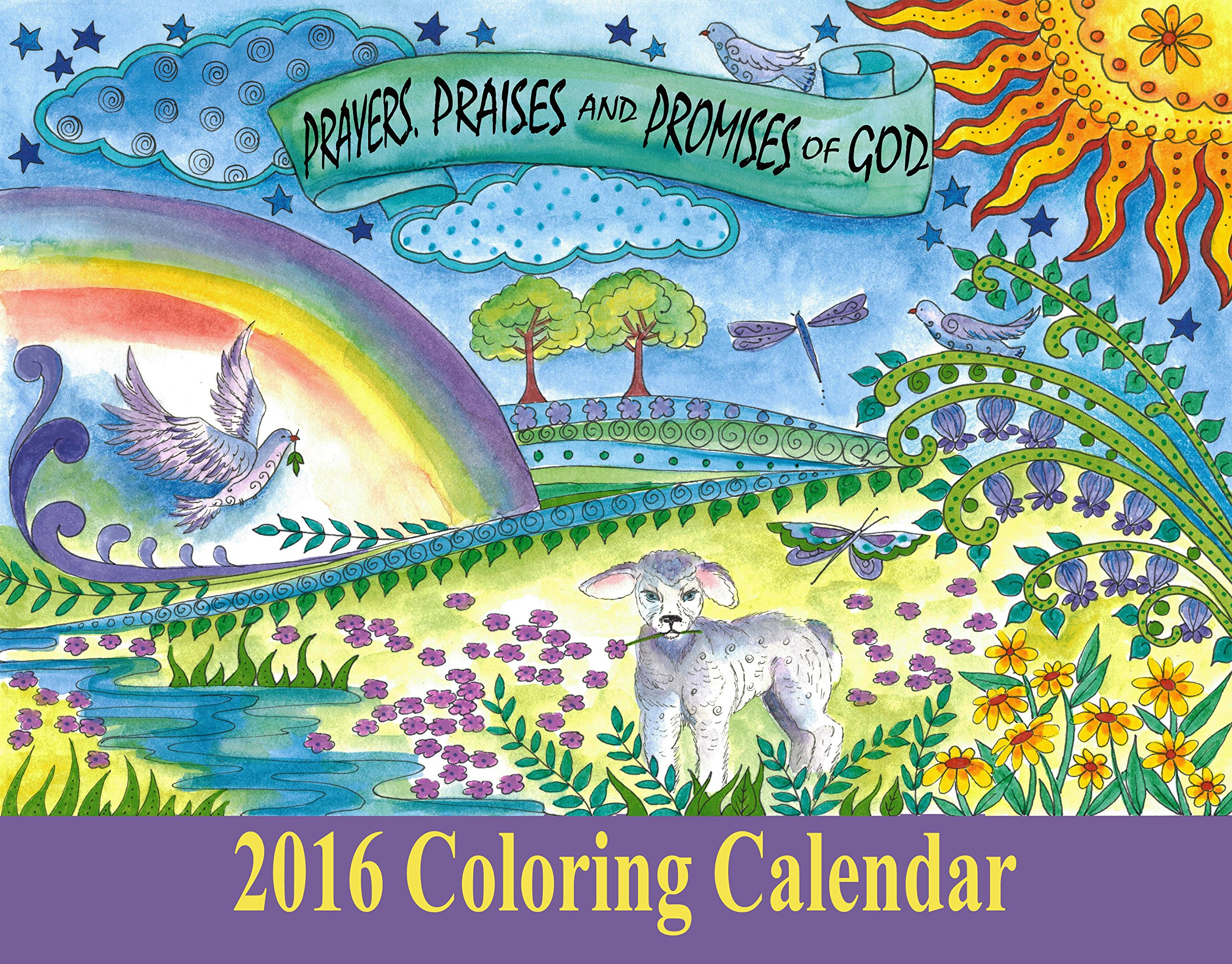 Christian Coloring Calendar 2016 Inspirational Messages for the ...