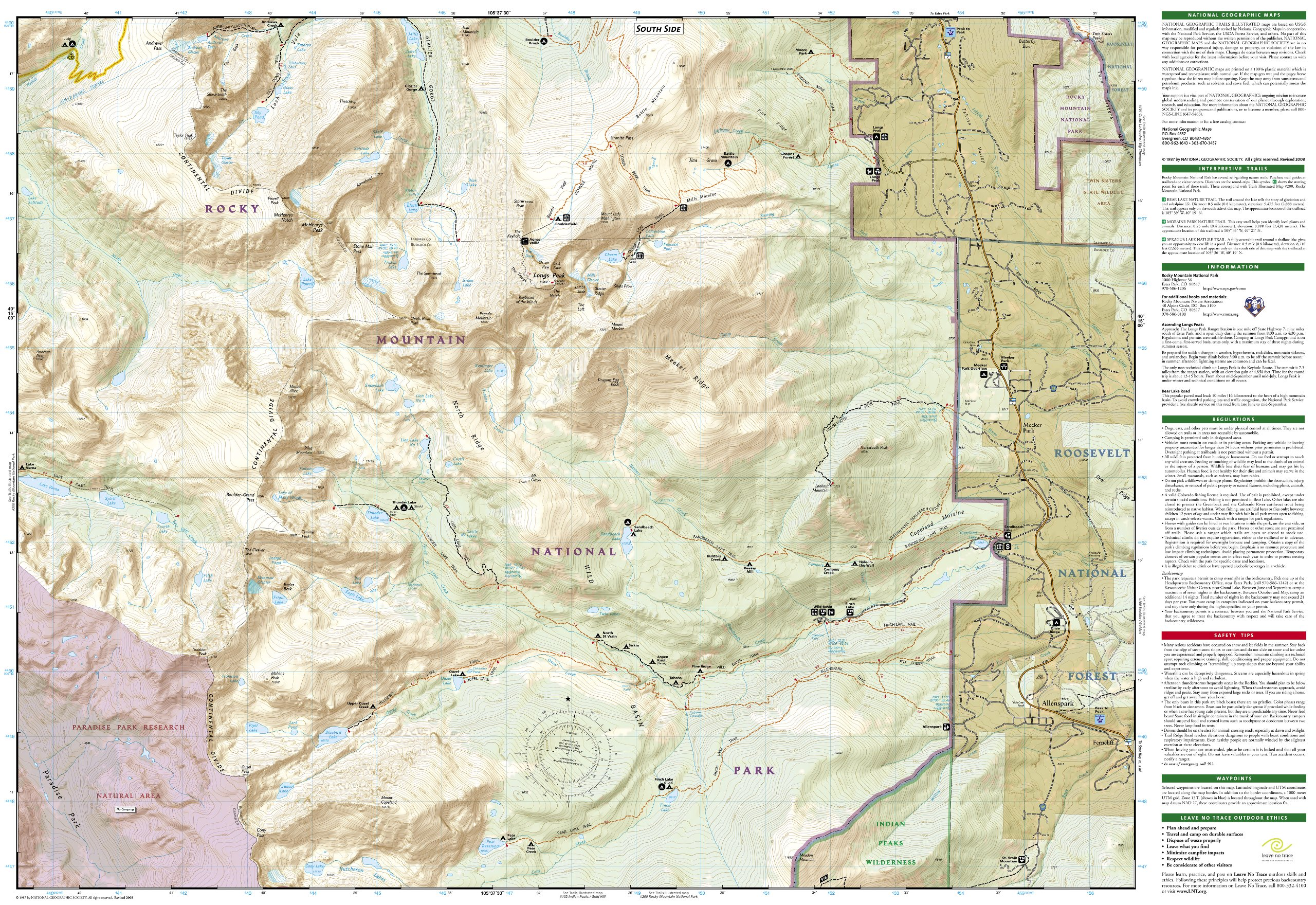Longs Peak Rocky Mountain National Park Bear Lake Wild Basin