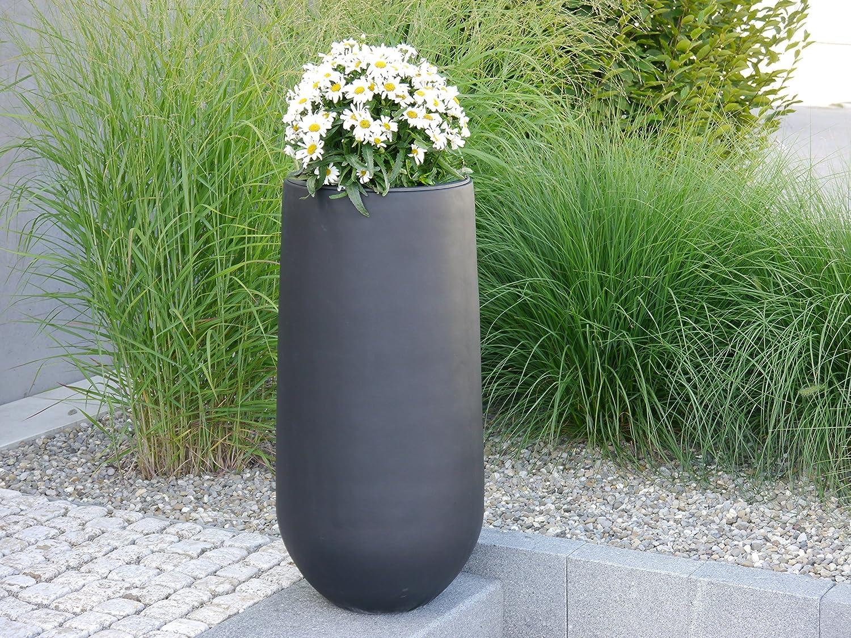 blumenk bel soto 40x h80cm aus fiberglas in schwarz anthrazit pflanzk bel pflanztopf. Black Bedroom Furniture Sets. Home Design Ideas