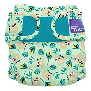 Bambino Mio, mioduo Cloth Diaper Cover, Swinging Sloth, Size 1 (<21lbs)