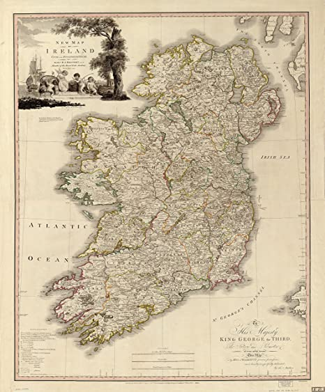 Map Of Ireland Historical Sites.Ireland Antique Map Wall Art 24 X 29 Great Irish Gift For Any Lover Of Gaelic Culture History Classic Incredibly Detailed Poster Is Beautifully