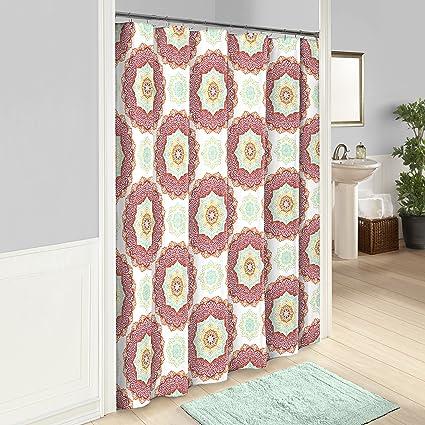 Vue Belle Shower Curtain 72x72 Fiesta