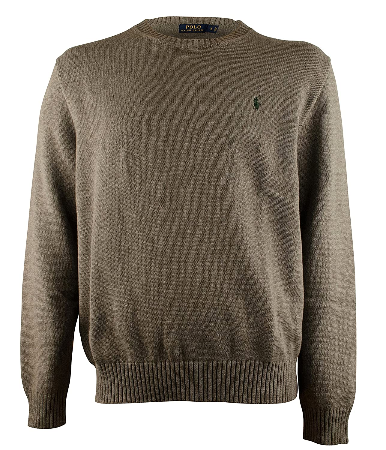 273c6c63cd3 Polo Ralph Lauren Mens Cotton Crew Neck Sweater - S - Gray at Amazon Men s  Clothing store