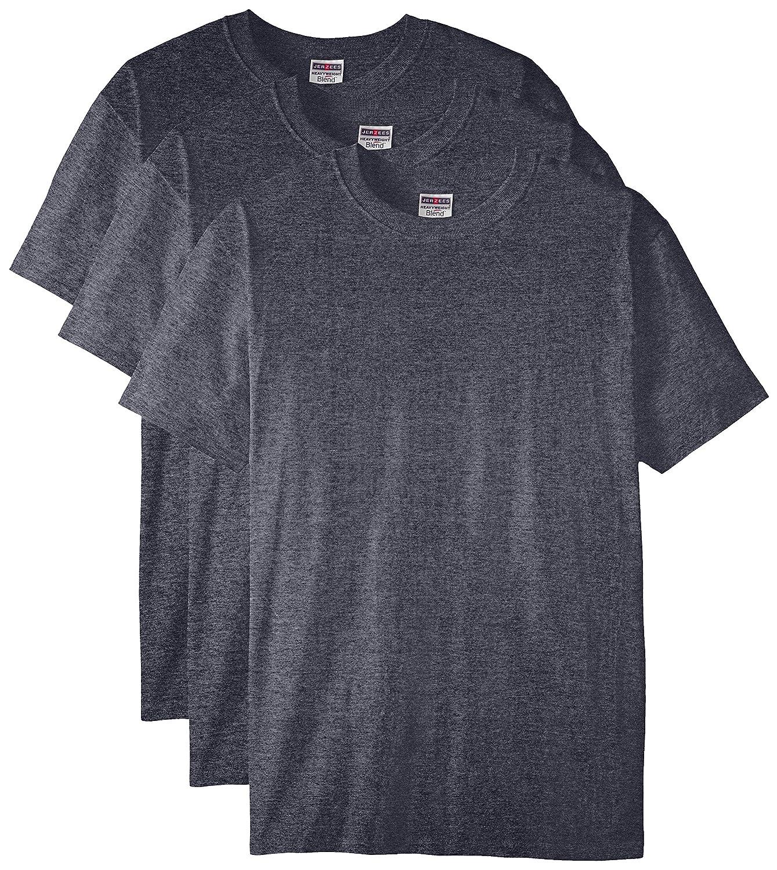 Jerzees メンズ 大人用 半袖Tシャツ(3枚組) B01CZYJGWG 5L|ブラックヘザー ブラックヘザー 5L