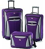 American Tourister Luggage Fieldbrook II 3 Piece Set, Purple/Grey