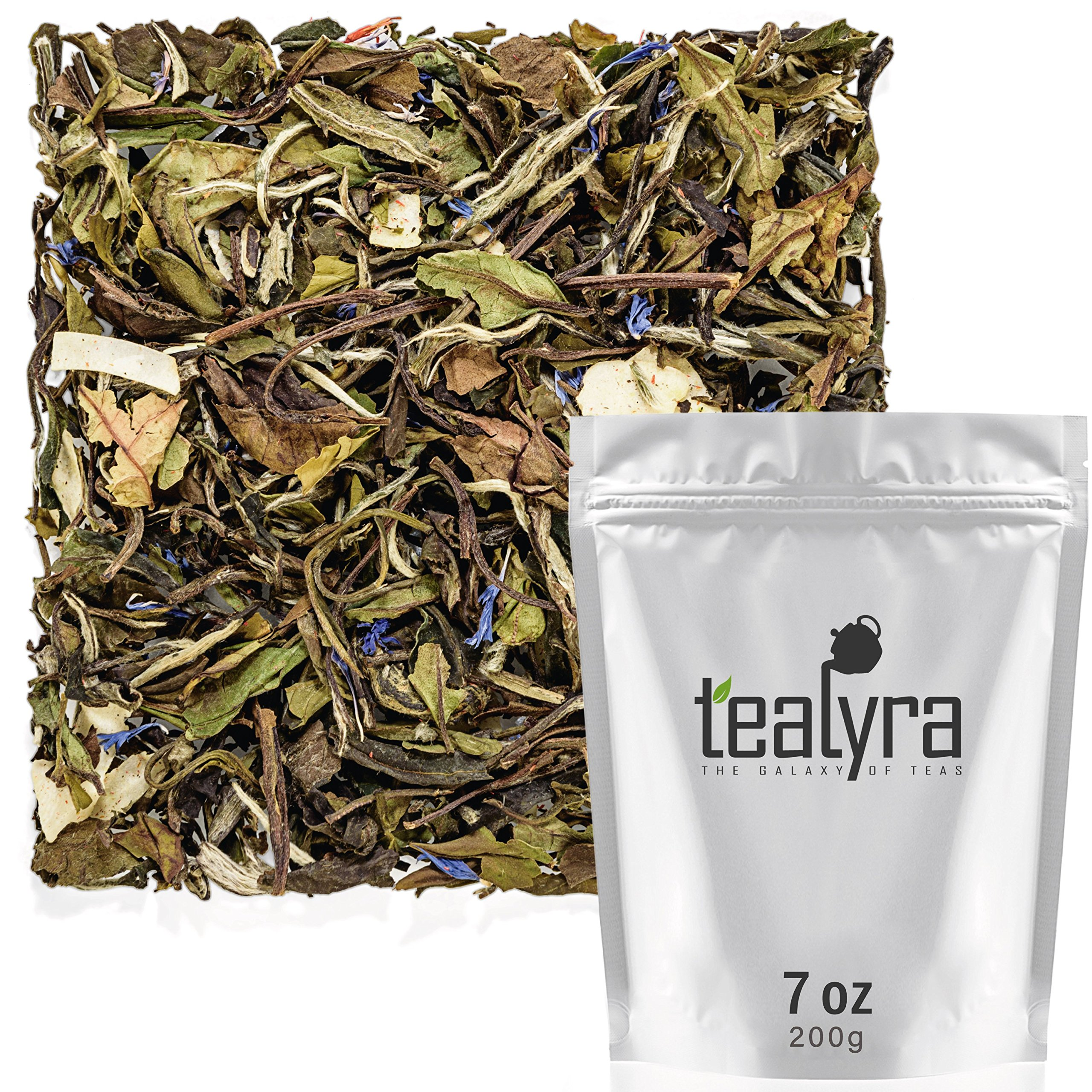 Tealyra - White Coconut Cream - Premium White Tea with Coconut Chips Blend - Loose Leaf Tea - High in Antioxidants - Caffeine Level Low - All Natural Ingredients - 200g (7-ounce) by Tealyra