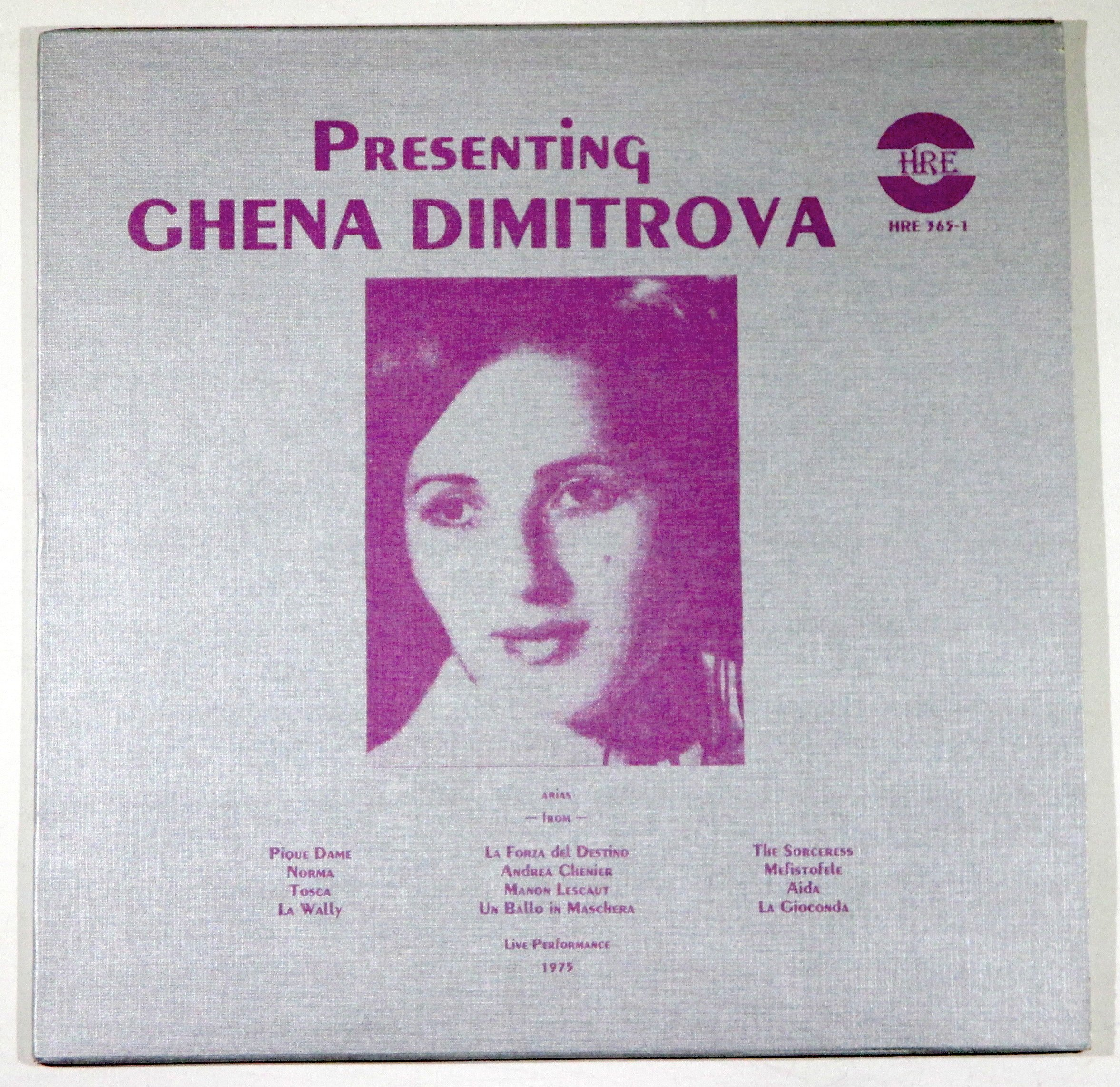 Presenting Ghena Dimitrova Arias (Live Performance 1975)