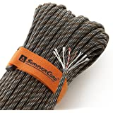 Titan 620 LB SurvivorCord Paracord | Authentic Patented U.S. Military Type III Nylon 550 Parachute Cord (MIL-C-5040H) with Integrated Fishing Line, Fire-Starter Tinder, and Snare Wire. [w/eBooks]