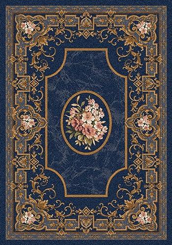 Milliken Pastiche Collection Montfleur Rectangle Area Rug, 10 9 x 13 2 , Phantom blue