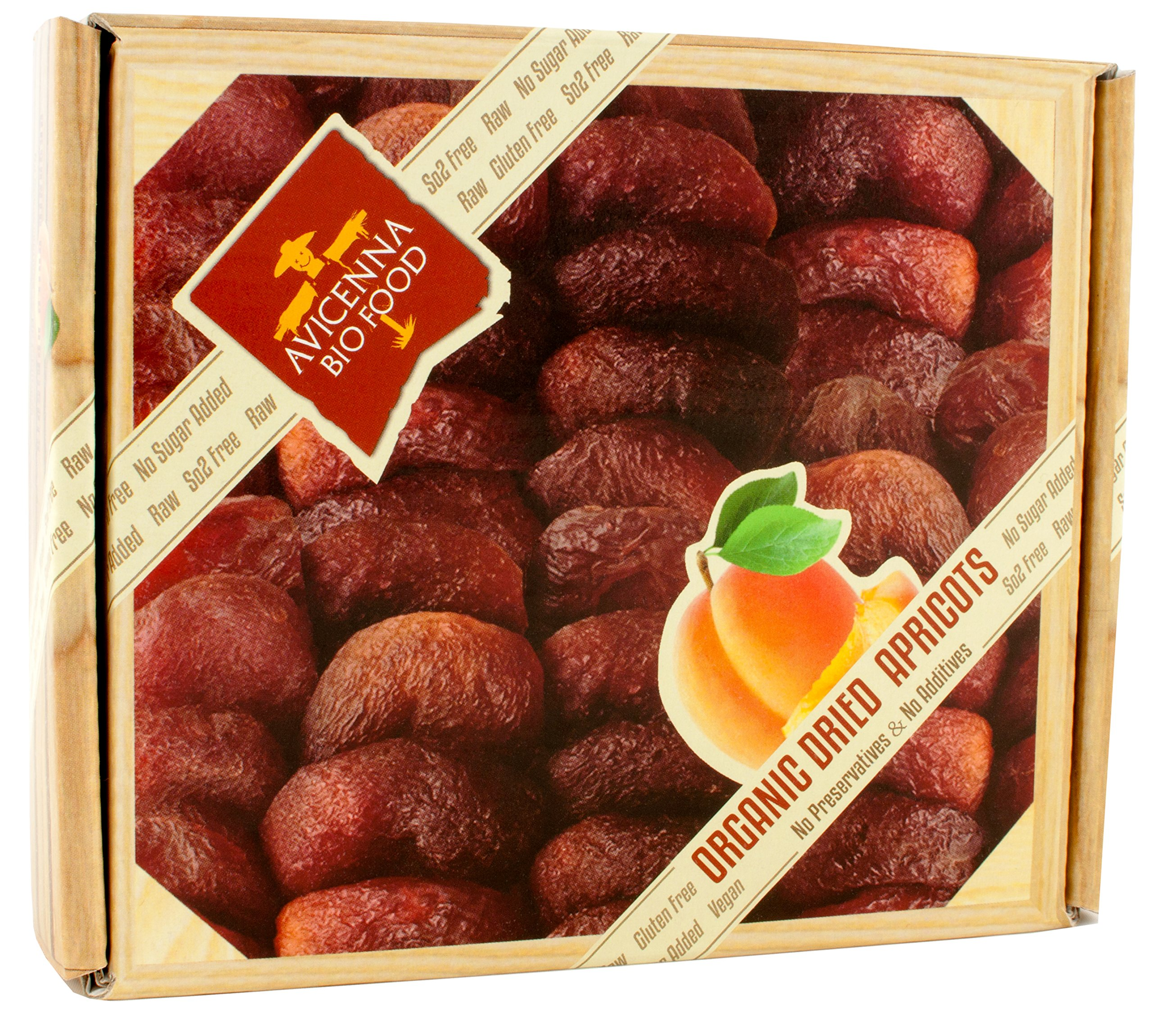 Premium Organic Dried Apricots | Raw, Non GMO, Vegan, Vegetarian, Unsulfured, Sun Dried Fruit, Turkish Apricots, No Sugar Added, Gift Box 100g by Avicenna BIO Food (Image #2)