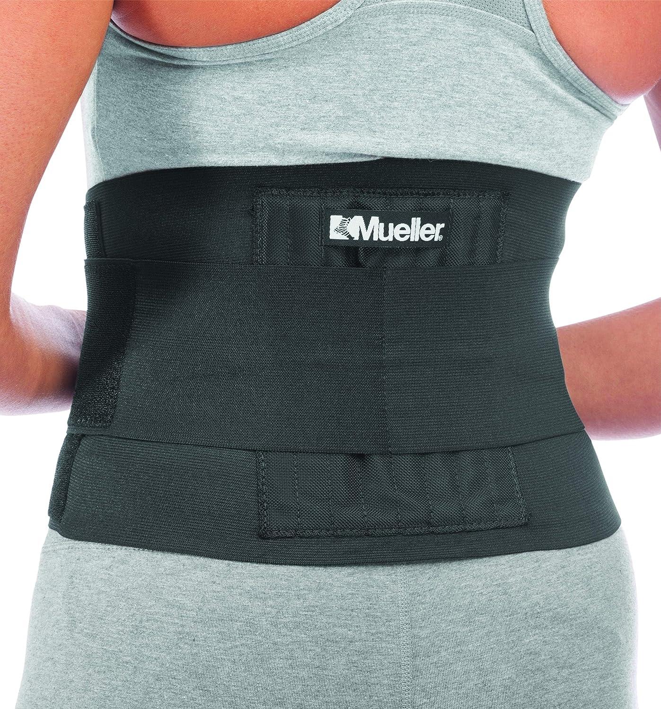 Mueller Adjustable Back Brace, Black, S/M