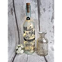 Personalised Light Up Bottle, Special Birthday 18th, 21st, 30th, 40th, 50th, 60th Special Occasion, frosted bottle