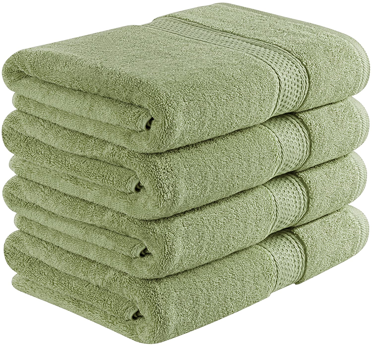 Utopia Towels 700 GSM Cotton 27-Inch-by-54-Inch Bath Towel Set, Set of 4, Beige UT0449