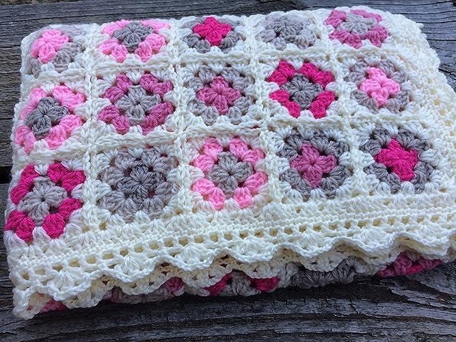 Amazoncom Baby Blanket Crocheted Blanket Baby Afghan Granny