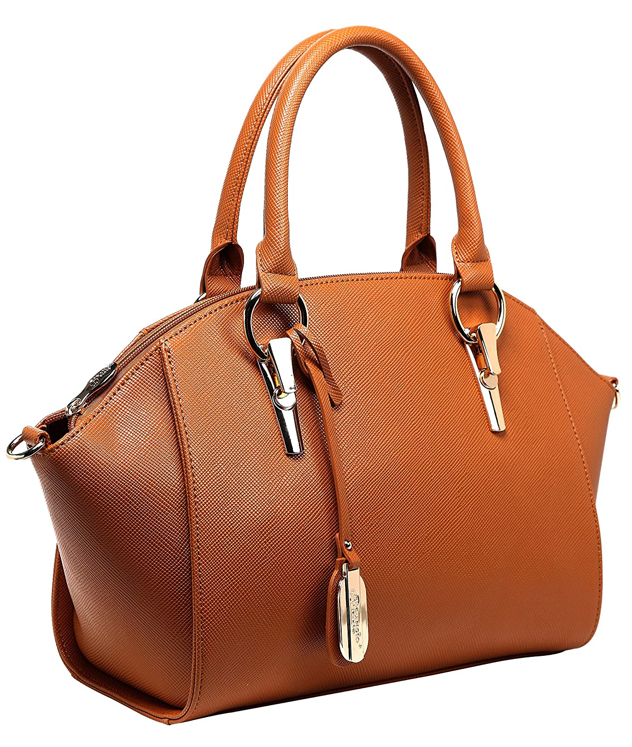 Authentic BRANGIO (Italy) Dome Shaped Satchel-Style Handbag with Adjustable Shoulder Strap