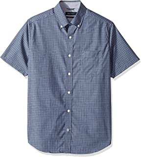 c7ca58aea8 Nautica Men's Short Sleeve Classic Fit Wrinkle Resistant Button Down Shirt
