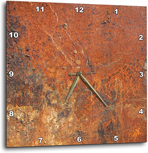 3dRose Old Rust – Wall Clock, 13 by 13-Inch DPP_101743_2
