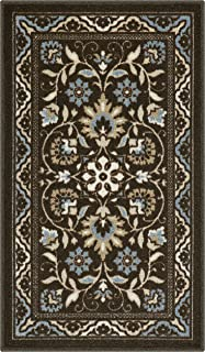 product image for Maples Rugs Florence Kitchen Rugs Non Skid Accent Area Carpet [Made in USA], 1'8 x 2'10, Coffee Brown