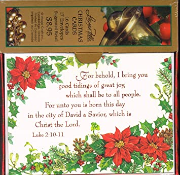 christian christmas cards boxed 16 count luke 210 11 - Christian Greeting Cards