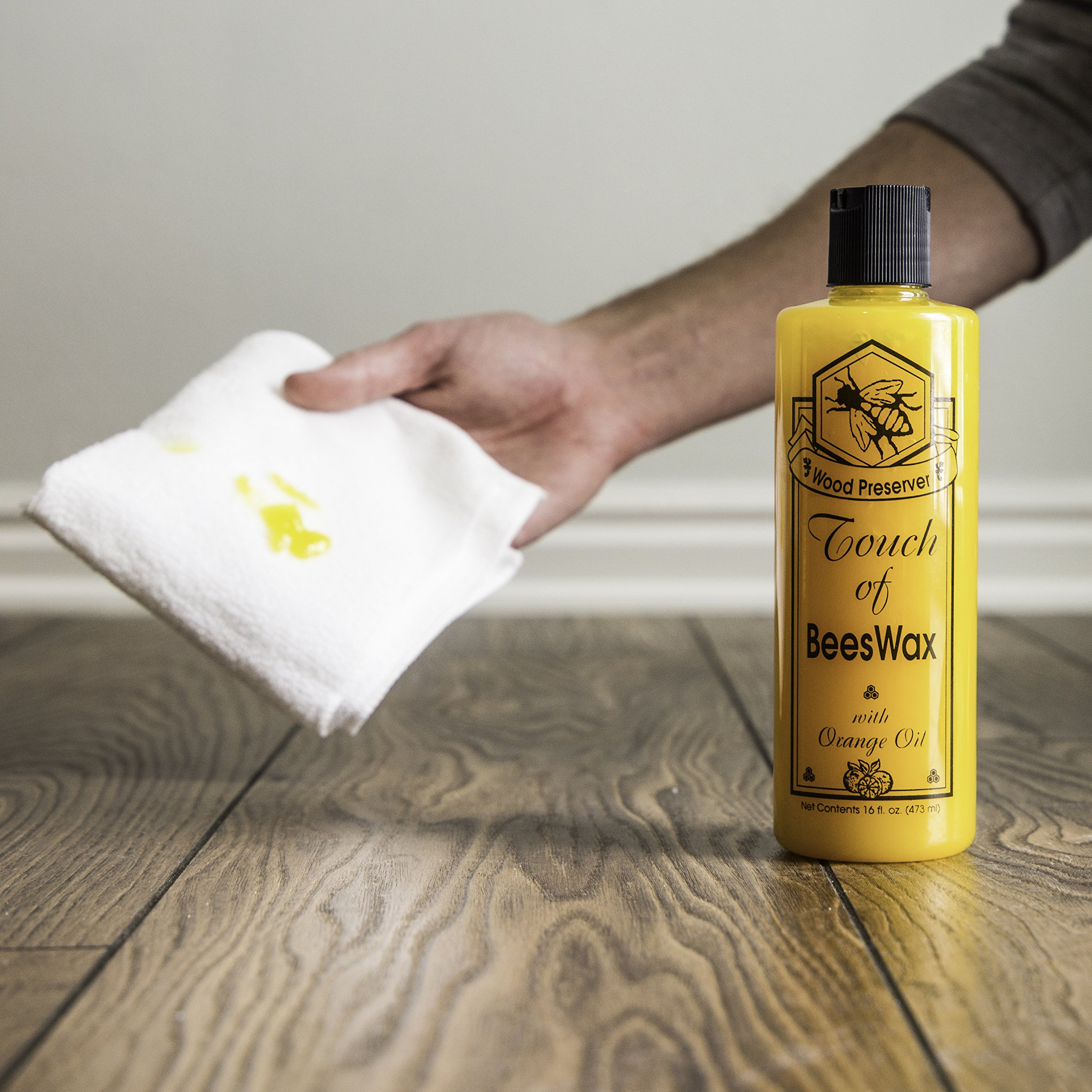 Touch of Oranges Hardwood Floor Cleaner and Touch of Beeswax for Wood Polish Cleaner and Restorer Bundle (1 gallon Cleaner & 1/2 gallon Polish) by Touch Of Oranges (Image #6)