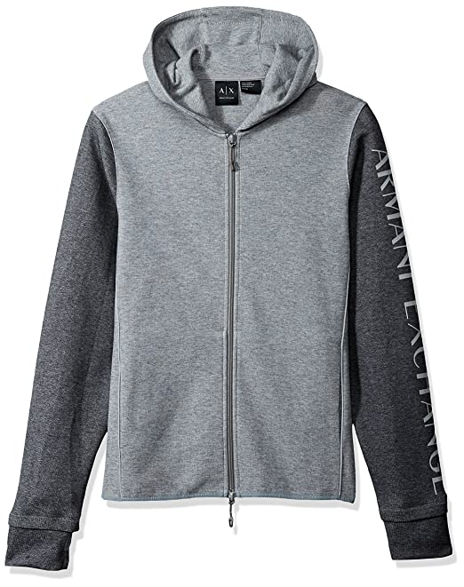 Amazon.com: A|X Armani Exchange Mens Heathered Long Sleeve Logod Hoodie: Clothing