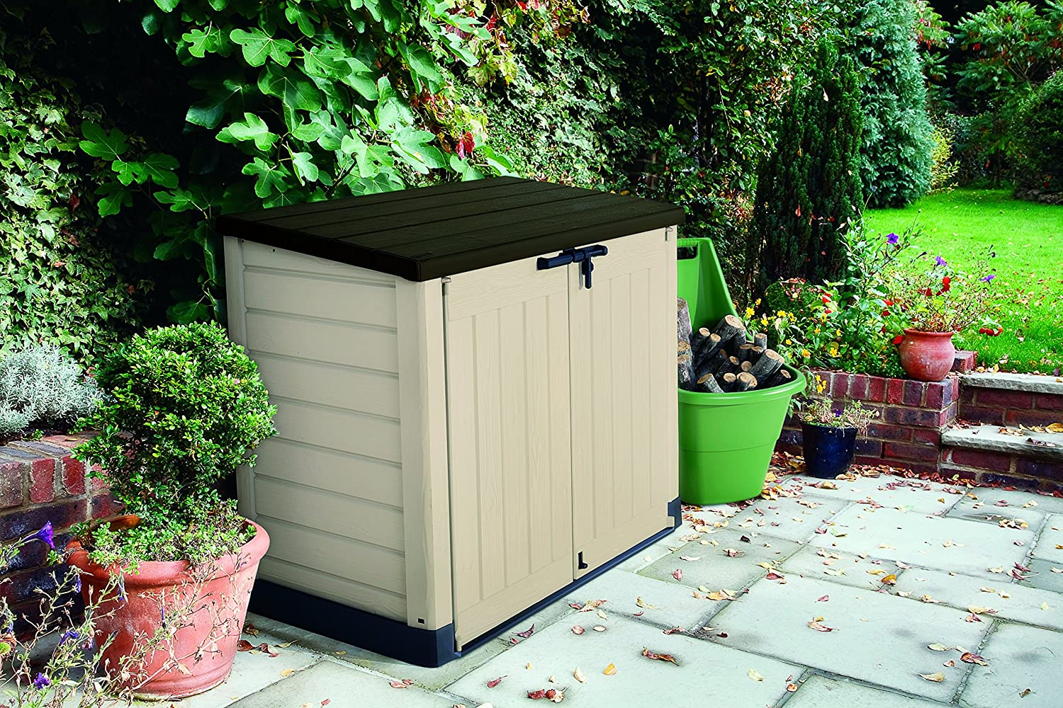 Keter store it out max plastic outdoor garden storage shed - Brown plastic garden sheds ...
